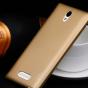 """Фирменная задняя панель-крышка-накладка из тончайшего и прочного пластика для Oppo U3"""" золотая"""