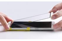 Фирменное 3D защитное изогнутое стекло которое полностью закрывает экран / дисплей по краям с олеофобным покрытием для OPPO R7 Plus белое