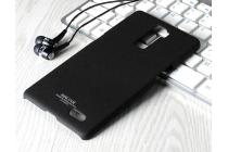 Фирменная задняя панель-крышка-накладка из тончайшего прочного и мягкого Soft Tach пластика для OPPO R7 Plus черная