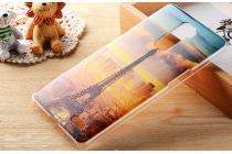 """Фирменная уникальная задняя панель-крышка-накладка из тончайшего пластика для OPPO R7 Plus с объёмным 3D рисунком """"тематика Париж"""""""