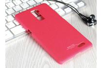 Фирменная задняя панель-крышка-накладка из тончайшего прочного и мягкого Soft Tach пластика для OPPO R7 Plus красная