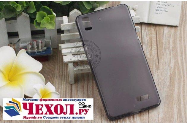 Фирменная ультра-тонкая полимерная из мягкого качественного силикона задняя панель-чехол-накладка для  Oppo R7 черная