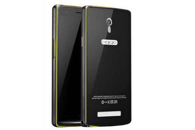 Фирменная металлическая задняя панель-крышка-накладка из тончайшего облегченного авиационного алюминия для Oppo Find 7 черная