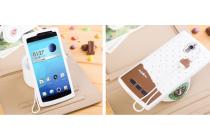 """Фирменная необычная уникальная полимерная мягкая задняя панель-чехол-накладка для Oppo Find 7 """"тематика Андроид в Белом Шоколаде"""""""