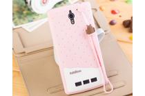 """Фирменная необычная уникальная полимерная мягкая задняя панель-чехол-накладка для Oppo Find 7 """"тематика Андроид в клубничном шоколаде"""""""