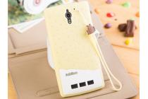 """Фирменная необычная уникальная полимерная мягкая задняя панель-чехол-накладка для Oppo Find 7 """"тематика Андроид в ванильном  Шоколаде"""""""