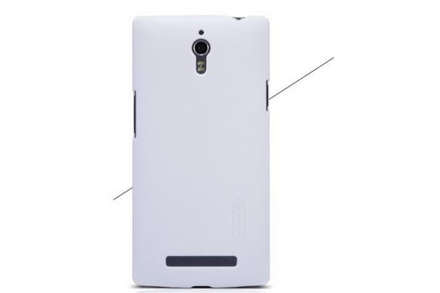 Фирменная задняя панель-крышка-накладка из тончайшего и прочного пластика для Oppo Find 7 белая