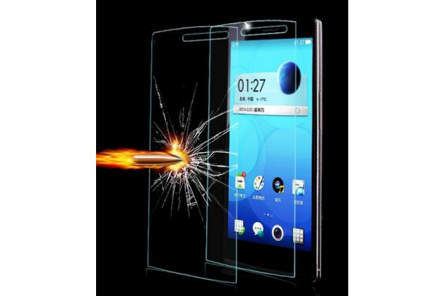 Фирменное защитное закалённое противоударное стекло премиум-класса из качественного японского материала с олеофобным покрытием для Oppo Find 7