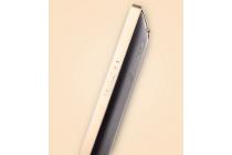 Фирменный оригинальный ультра-тонкий чехол-бампер для Oppo Find 7 золотой металлический