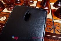 """Фирменный оригинальный вертикальный откидной чехол-флип для Oppo Find 7 черный из качественной импортной кожи """"Prestige"""" Италия"""