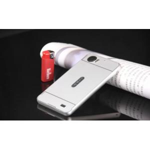 """Фирменная металлическая задняя панель-крышка-накладка из тончайшего облегченного авиационного алюминия для OPPO Finder X907"""" серебряная"""