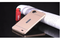 """Фирменная металлическая задняя панель-крышка-накладка из тончайшего облегченного авиационного алюминия для OPPO Finder X907""""  золотая"""