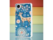 Фирменная пластиковая задняя панель-чехол-накладка с безумно красивым расписным рисунком Оленя в цветах для OP..