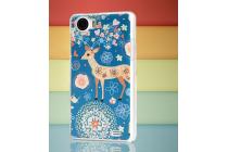 Фирменная пластиковая задняя панель-чехол-накладка с безумно красивым расписным рисунком Оленя в цветах для OPPO Finder X907