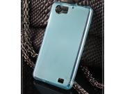Фирменная ультра-тонкая силиконовая задняя панель-чехол-накладка для OPPO Finder X907 голубая..