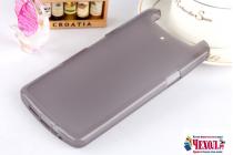 Фирменная ультра-тонкая силиконовая задняя панель-чехол-накладка для OPPO N1 mini черная