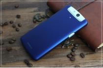 Фирменная задняя панель-крышка-накладка из тончайшего и прочного пластика для OPPO N1 mini синяя