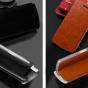 """Фирменный чехол-книжка  для OPPO N1 mini"""" из качественной водоотталкивающей импортной кожи на жёсткой металлической основе коричневого цвета"""