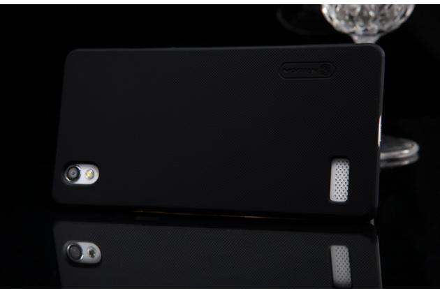 """Фирменная задняя панель-крышка-накладка из тончайшего и прочного пластика для Oppo Mirror 5"""" черная"""