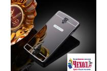 """Фирменная металлическая задняя панель-крышка-накладка из тончайшего облегченного авиационного алюминия для Oppo R831S/R831K"""" черная"""