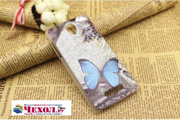 """Фирменная пластиковая задняя панель-чехол-накладка с безумно красивым расписным рисунком Бабочки для Oppo R831S/R831K"""""""