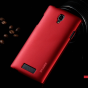 Фирменная задняя панель-крышка-накладка из тончайшего и прочного пластика для Oppo R831S/R831K красная