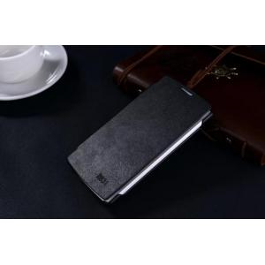 """Фирменный оригинальный водооталкивающий чехол-книжка для Oppo R831S/R831K"""" черный"""