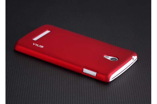 Фирменная задняя панель-крышка-накладка из тончайшего и прочного пластика для OPPO Clover R815 красная
