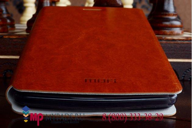 Фирменный оригинальный чехол-книжка из качественной импортной кожи для Oppo N3 коричневый