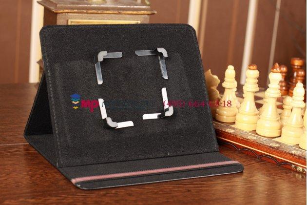 Чехол-обложка для OLT On-Tab 1012L черный кожаный