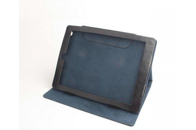 """Фирменный чехол-футляр-книжка для ONDA V975m 9.7"""" черный кожаный"""