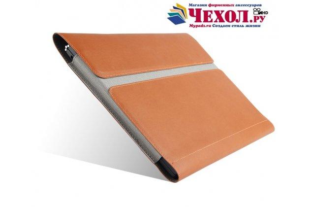 Фирменный оригинальный чехол-клатч-сумка для Onda oBook 10 Pro 64Gb/Onda oBook 10 SE/ 10 SE 32Gb из качественной импортной кожи коричневый