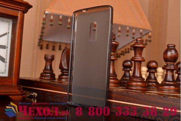 Фирменная ультра-тонкая полимерная из мягкого качественного силикона задняя панель-чехол-накладка для OnePlus 2 (Two) A2001  черная