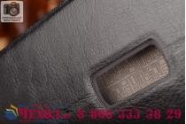 Фирменный чехол-книжка из качественной водоотталкивающей импортной кожи на жёсткой металлической основе для OnePlus 2 (Two) A2001 черный