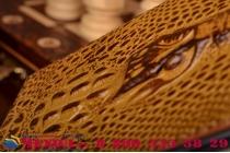 Фирменный роскошный эксклюзивный чехол с объёмным 3D изображением кожи крокодила коричневый для OnePlus 2 (Two) A2001. Только в нашем магазине. Количество ограничено
