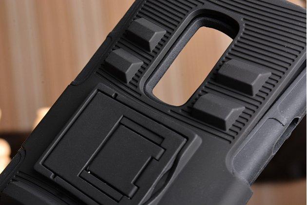 Противоударный усиленный ударопрочный фирменный чехол-бампер-пенал для  OnePlus 2 (Two) A2001  черный