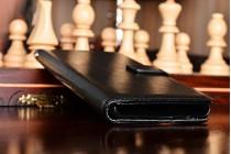 Фирменный чехол-книжка из качественной импортной кожи с подставкой застёжкой и визитницей для OnePlus 3 черный