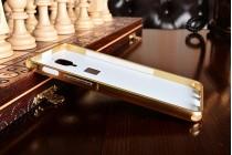 Фирменная металлическая задняя панель-крышка-накладка из тончайшего облегченного авиационного алюминия для OnePlus 3T золотая