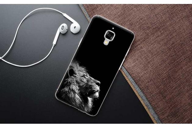 Фирменная роскошная задняя панель-чехол-накладка с безумно красивым расписным рисунком на OnePlus 3 тематика Лев