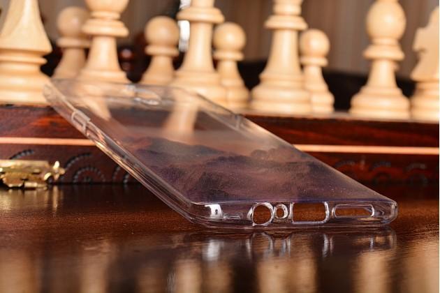 """Фирменная уникальная задняя панель-крышка-накладка из тончайшего силикона для OnePlus 3T с объёмным 3D рисунком """"тематика Горы"""""""