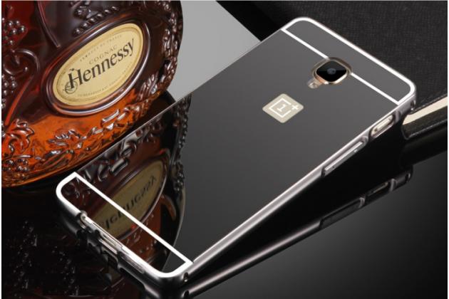 Фирменная металлическая задняя панель-крышка-накладка из тончайшего облегченного авиационного алюминия для OnePlus 3T черная