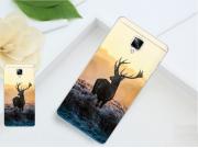 Фирменная необычная из силикона задняя панель-чехол-накладка для OnePlus 3T тематика Олень..