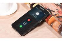 Фирменный чехол-книжка для OnePlus 3T черный с окошком для входящих вызовов и свайпом водоотталкивающий