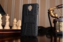 Противоударный усиленный ударопрочный фирменный чехол-бампер-пенал для OnePlus 3T черный