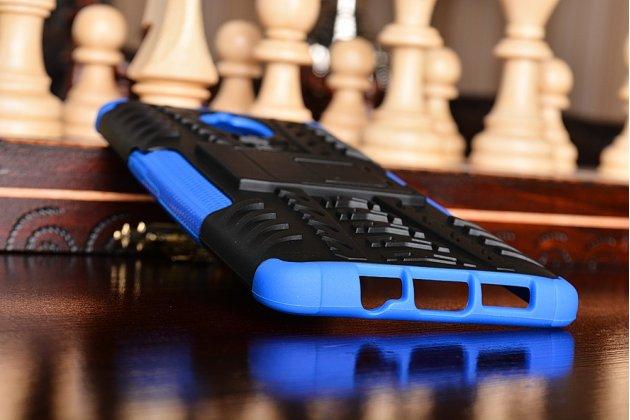 Противоударный усиленный ударопрочный фирменный чехол-бампер-пенал для OnePlus 3T синий