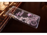 Фирменная задняя панель-чехол-накладка из прозрачного 3D  силикона с объёмным рисунком для OnePlus 3T A3010/ O..