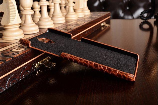 """Фирменная роскошная эксклюзивная накладка с объёмным 3D изображением рельефа кожи крокодила коричневая для OnePlus 3T A3010/ OnePlus 3 A3000 / A3003"""" . Только в нашем магазине. Количество ограничено"""