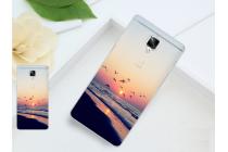 """Фирменная уникальная задняя панель-крышка-накладка из тончайшего силикона для OnePlus 3T с объёмным 3D рисунком """"тематика Морской закат"""""""