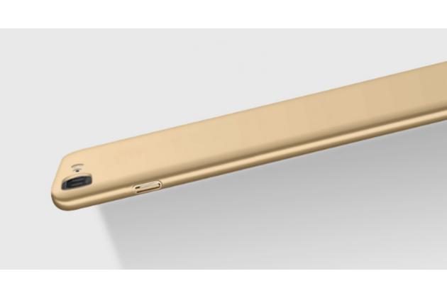 Фирменная задняя панель-крышка-накладка из тончайшего и прочного пластика для OnePlus 3T A3010/ OnePlus 3 A3000 / A3003 золотая