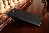 Фирменная задняя панель-крышка-накладка из тончайшего и прочного пластика для OnePlus 3T черная